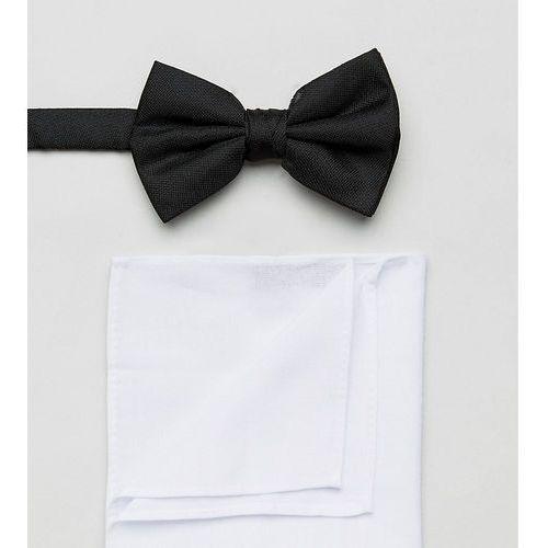 OKAZJA - black bow tie and pocket square in white - black marki New look