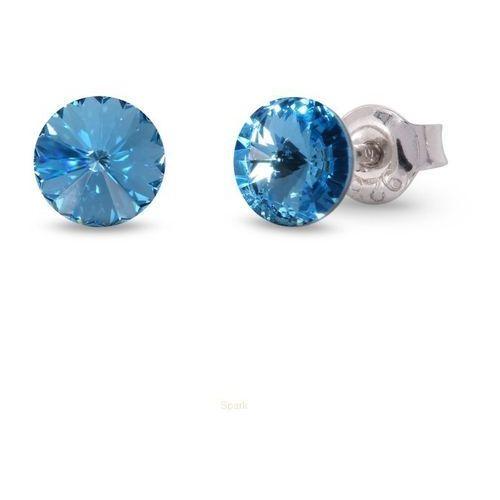 Kolczyki wkrętki swarovski  błękitne marki Anka biżuteria