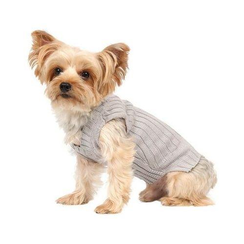 Doggy dolly sweter klasyczny, szary, l 31-33 /46-48 - darmowa dostawa od 95 zł!
