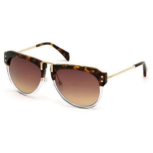 Okulary Słoneczne Just Cavalli JC 745S 56K, kolor żółty