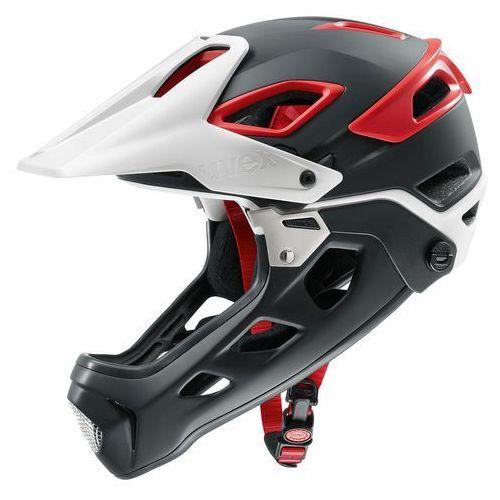 Uvex Kask rowerowy jakkyl hde fullface m 52-57 cm czerwony/czarny/biały