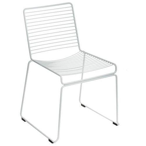 Krzesło dilly white/ białe metalowe marki D2.design