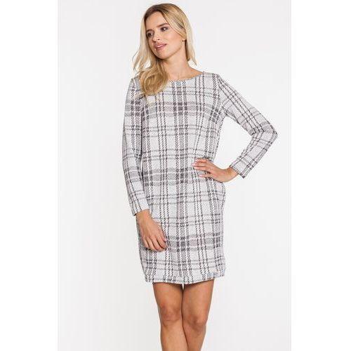 Sukienka ze wzorem w kratę - Ennywear, 1 rozmiar