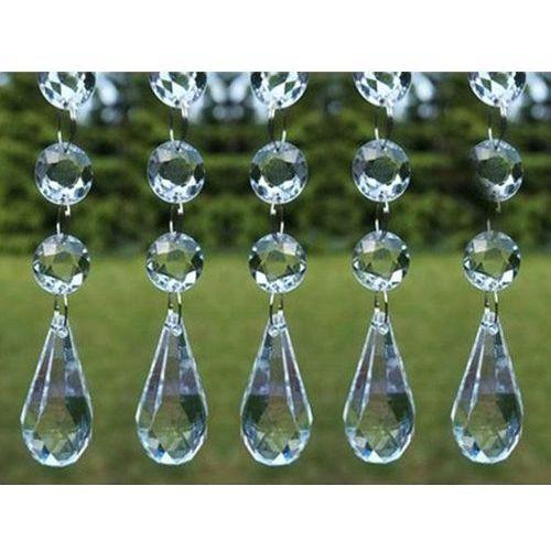 Dp Girlanda kryształowa łezka - bezbarwna - 1 m - 1 szt.