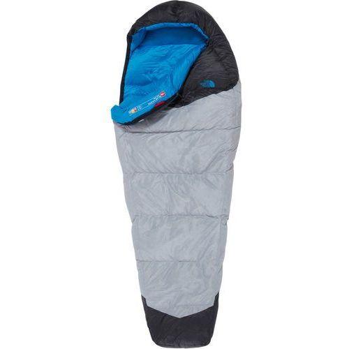 The north face blue kazoo sleeping bag long, high rise grey/hyper blue left zipper 2019 śpiwory