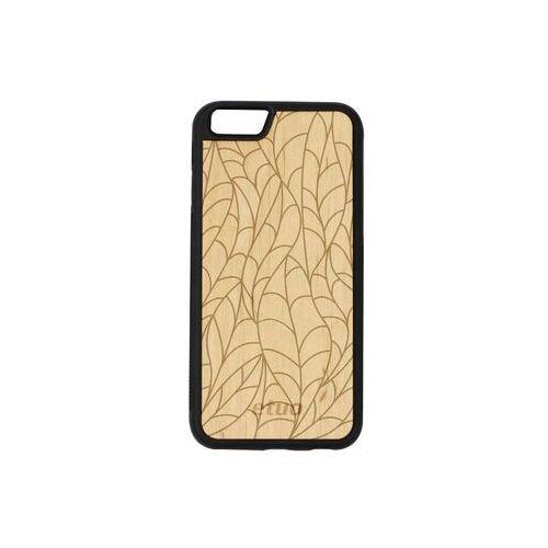 Apple iPhone 6 - etui na telefon Wood Case - olcha - liście, ETAP138EWODOL002000
