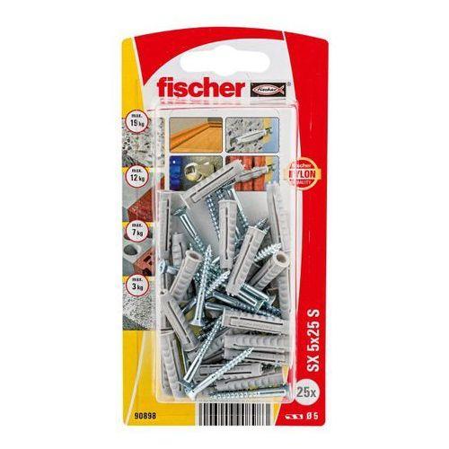 Kołki rozporowe z wkrętami Fischer SX 5 x 25 mm 25 szt., 90898