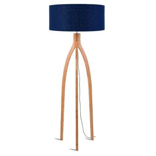 lampa podłogowa annapurna bambus 3-nożna 128cm/abażur 60x30cm, lniany blue denim annapurna/f/6030/bd marki Good&mojo