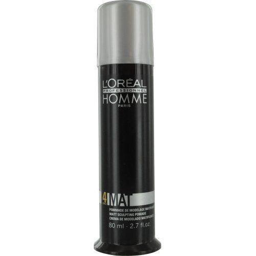 L'oréal professionnel  homme styling modelujący krem do włosów matujące (mat force 4) 80 ml (3474630242784)