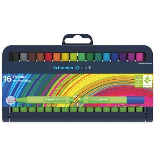 Cienkopis SCHNEIDER Link-It, 0,4mm, stojak - podstawka, 16szt. mix kolorów, SR191292