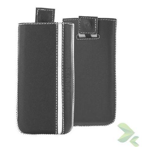 Rovens.pl Valenta Pocket Stripe - Skórzane etui wsuwka Samsung Galaxy S5, Sony Xperia Z i inne (czarny), 910441