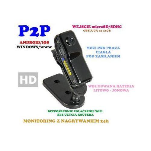Spy Mikro-kamera (wielkości kciuka!) wifi/p2p hd (zasięg cały świat!) + zapis +...