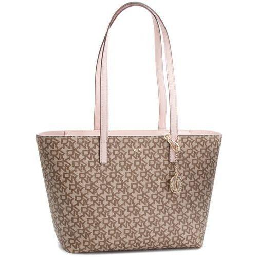 Dkny Torebka - bryant lg zip tote r74aj014 chino logo-iconic blush