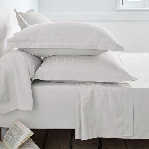Poszewka na poduszkę z satyny bawełnianej, w dużą kratę