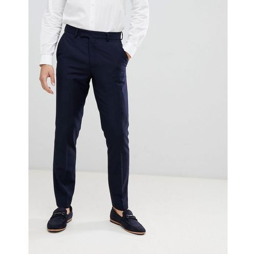 slim fit peak collar tuxedo trousers - navy, French connection