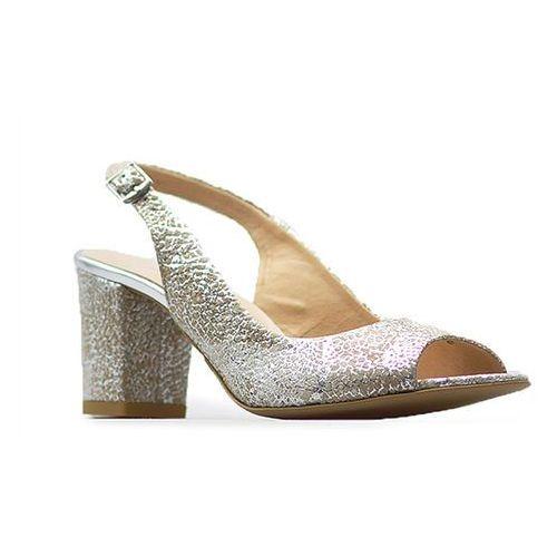 Sandały 1385/o/684 białe złoto, Laura messi