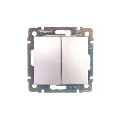 Legrand Przycisk przełączny valena 770218 podwójny aluminium (3245067702185)