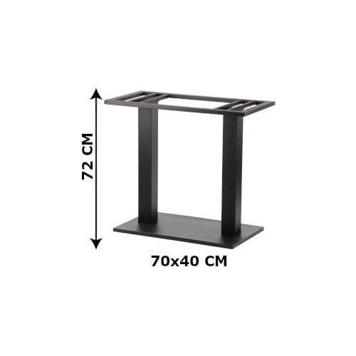 Podstawa stolika podwójna SH-2012-2/B, 70x40 cm (stelaż stolika), kolor czarny
