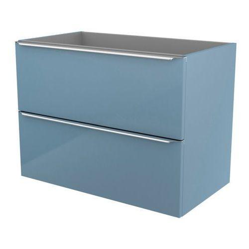 Goodhome Szafka pod umywalkę imandra wisząca 80 cm niebieska (3663602932857)