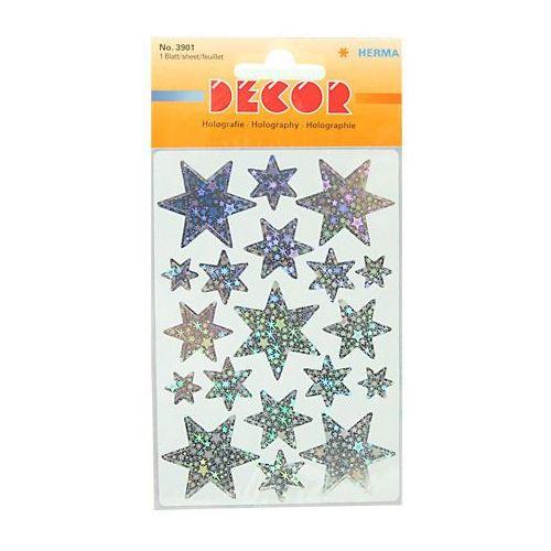 Naklejki HERMA Decor 3901 gwiazdy hologr sreb. x1