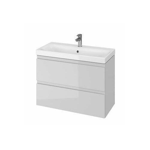 CERSANIT Zestaw łazienkowy MODUO SLIM 80cm szary (szafka+umywalka) S801-224, kolor szary