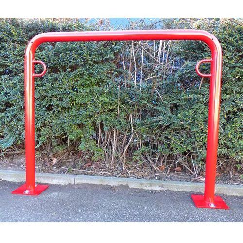 Pałąk wsporczy do rowerów, wys. 850 mm ponad podłożem, do zakotwienia, lakierowa