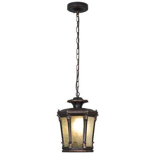 Zewnętrzna lampa wisząca amur 4693 ogrodowa oprawa latarenka zwis na łańcuchu ip23 brązowa miedziana marki Nowodvorski