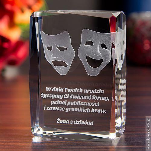 Teatralne Maski 3D • personalizowany kryształ 3D • GRAWER 3D