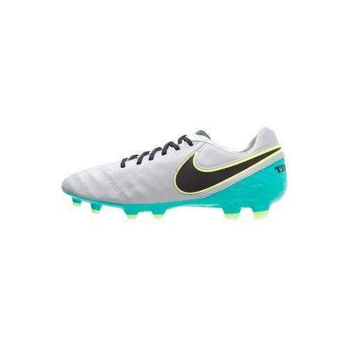 Nike Performance TIEMPO LEGACY II FG Korki Lanki wolf grey/black/clear jade/metallic silver/ghost green