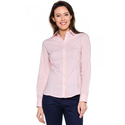 Klasyczna koszula w kolorze pudrowego różu - Duet Woman