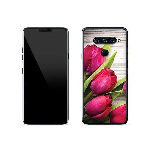 LG V40 ThinQ - etui na telefon Foto Case - czerwone tulipany, kolor czerwony