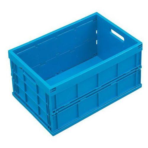 Pojemnik składany z polipropylenu, poj. 40 l, bez pokrywy, niebieski. z poliprop marki Walther faltsysteme
