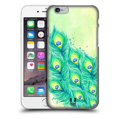 Etui plastikowe na telefon - peacock feathers blue green and yellow wyprodukowany przez Head case