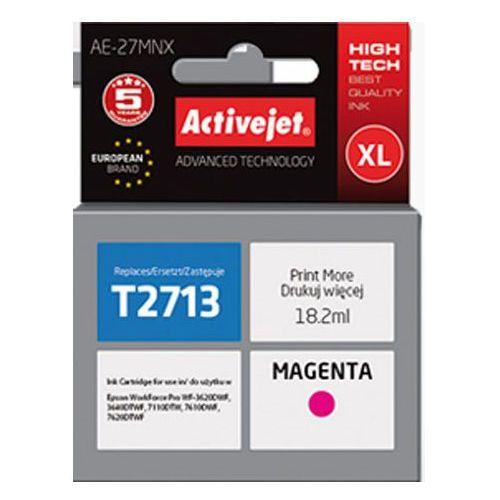 Tusz ae-27mnx magenta do drukarek epson (zamiennik epson t2713 / 27xl) [18.2ml] marki Activejet