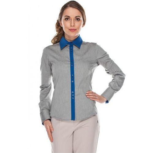 Koszula z niebieskimi wstawkami - Duet Woman, kolor szary