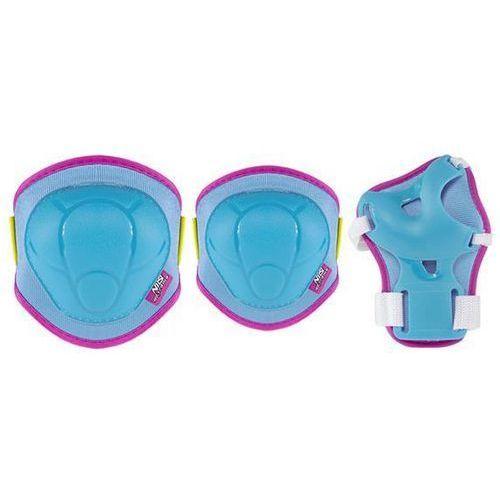 Zestaw ochraniaczy h106 niebiesko-różowy ( rozmiar s ) marki Nils extreme