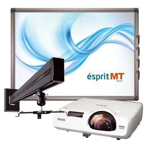 """2x3 Taniej!tablica esprit mtpro80"""" + projektor krótkoogniskowy epson eb-520 + uchwyt ścienny"""