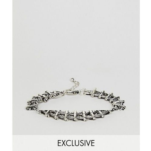 Reclaimed vintage inspired chain bracelet in silver exclusive at asos - silver