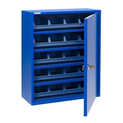 Aj produkty Szafka warsztatowa z niebieskimi pojemnikami, 580x470x205 mm