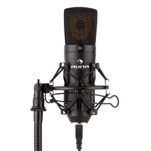 Auna  mic-920b mikrofon pojemnościowy studio mikrofon wielkomembranowy czarny