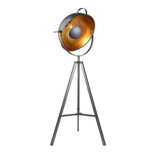 Stojąca lampa podłogowa toma floor bp-8055-bk sztalugowa oprawa na trójnogu kopuła czarna marki Azzardo