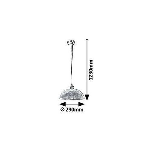 Industrialna LAMPA wisząca PETRINA 5459 Rabalux szklana OPRAWA loftowy zwis chrom satyna, 5459