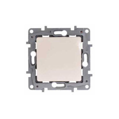 Przycisk zwierny Legrand Niloe 764622 podświetlany pojedynczy z lampką LED 230V kremowy