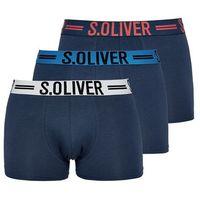 s.Oliver 3 – pack bokserki męskie M ciemnoniebieski, kolor niebieski