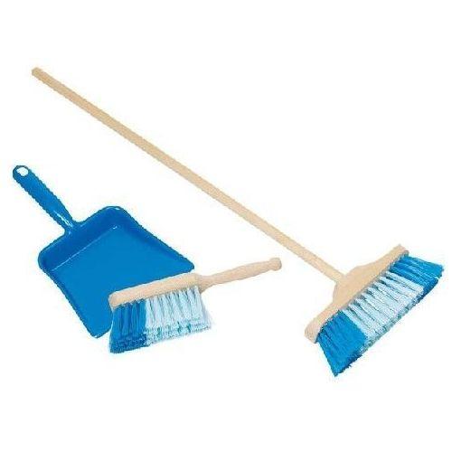 Niebieska zmiotka, szczotka i szufelka - zestaw do sprzątania dla dzieci z kategorii Pozostałe