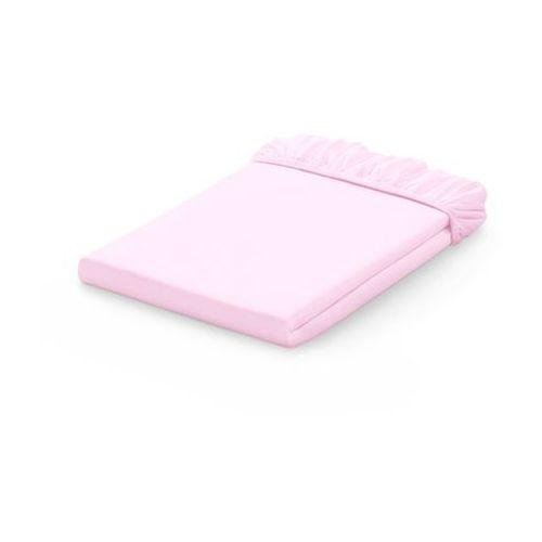 prześcieradło jersey bawełniane z gumką do łóżeczka 60x120 - jasny róż marki Mamo-tato