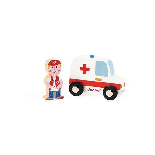 Janod - Ambulans z lekarzem zestaw drewniany - produkt z kategorii- Ambulanse
