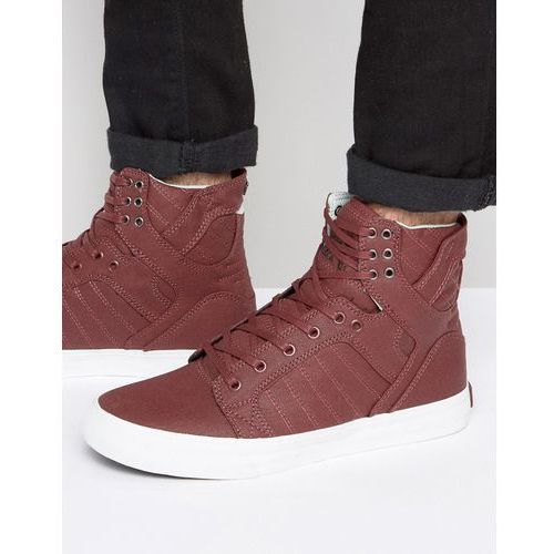 Supra Skytop Hi Top Trainers - Red
