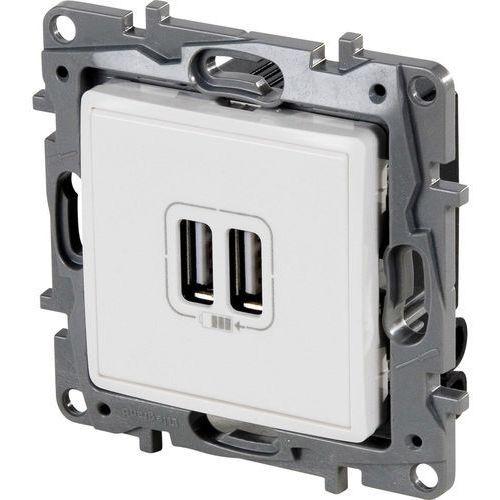 Gniazdo ładowania Legrand Niloe 764594 podwójne ładowarka USB 5 V 2400 mA białe, 764594