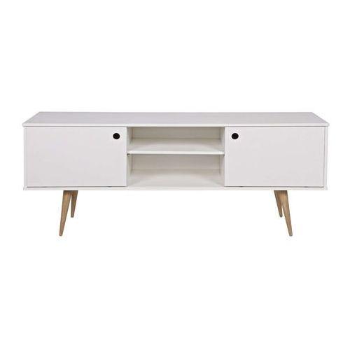 Woood stolik pod telewizor retro biały 375495 (8714713052332)